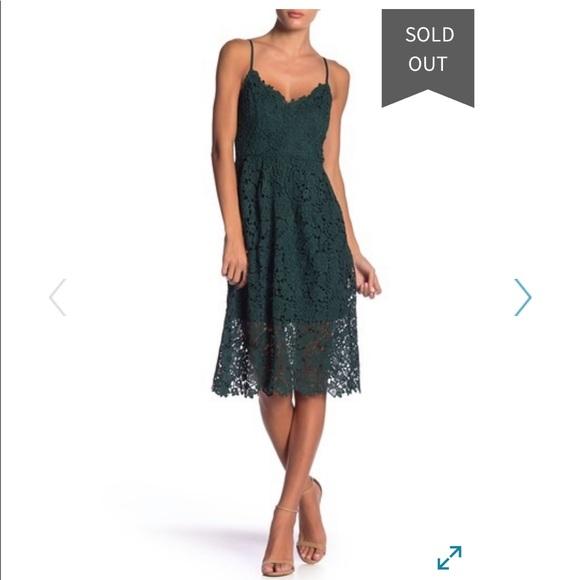 c9f0f2ae5638 Astr Dresses   The Label Lace Aline Dress Hunter Green   Poshmark